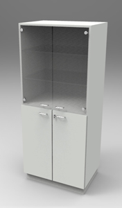 Шкаф лабораторный для химпосуды 800,  четыре двери. Серия NordStyle.