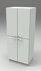 Шкаф лабораторный материальный 800, четыре двери. Серия NordStyle.